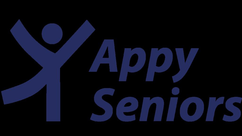 Appy Seniors logo in blue